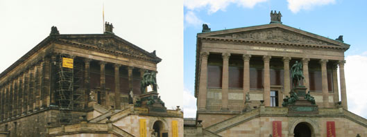 Alte Nationalgalerie, January 1998 and June 2002.