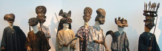 African Masks in the Ethnology Museum, Berlin.
