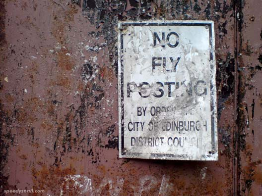 No Fly Posting