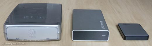 Three hard-drives, 2002 to 2012