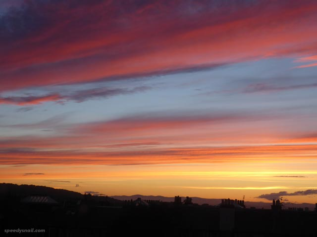 Sunset over Edinburgh, 19 June 2017.